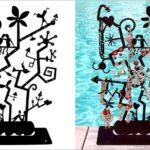 Expositor surrealista para joias e bijuterias inspirado em Miró