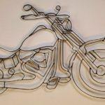 Escultura de motocicleta Harley-Davidson para decorar paredes