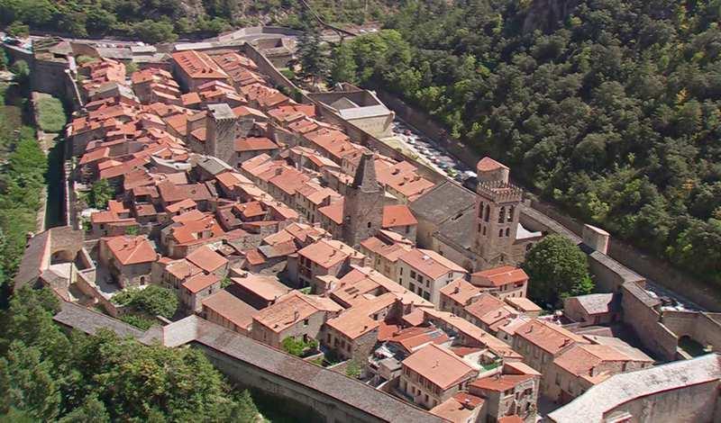 Cidade medieval do sul da França
