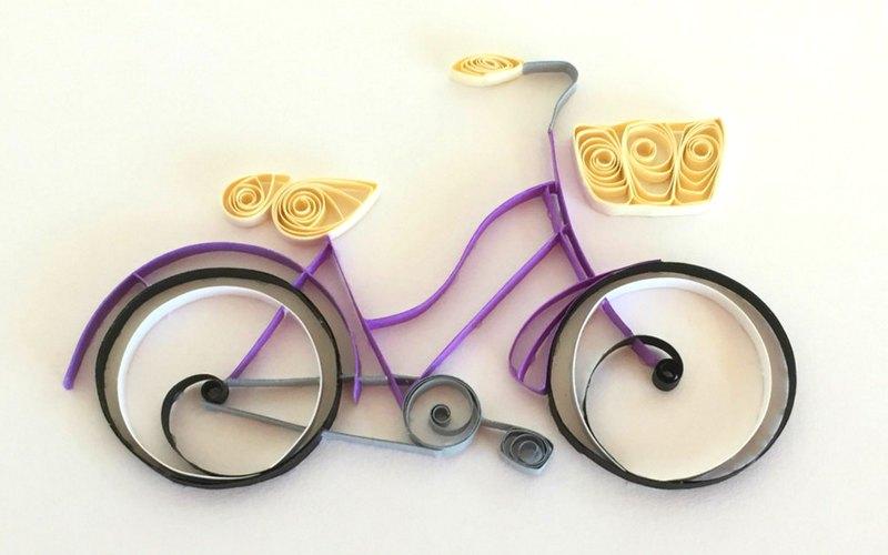 Bike com tirinhas de papel