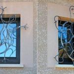 Grades de ferro para proteção de janelas com a forma de bichos