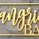Letreiro 3D para interior ou fachada de bar com cor metalizada