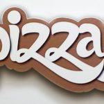 Letreiro, placa e painel em 3D para fachadas de pizzarias