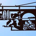 Placa de aço para fachada de padaria mais conhecida do mundo