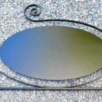 Letreiro retrô com placa dupla face oval pendurada ou fixa