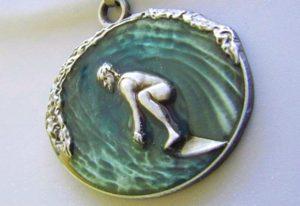 Medalha 3D para premiação de torneio de surfe