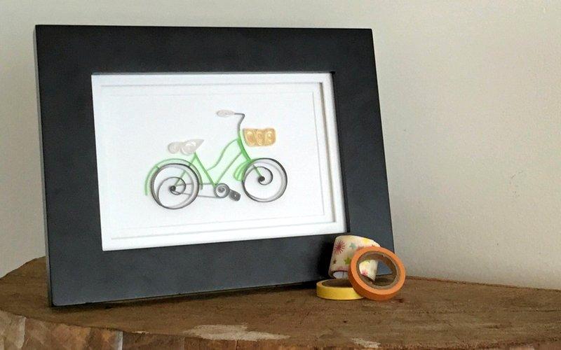 Obra de arte sobre ciclismo