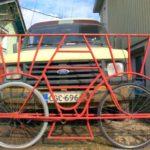Portão deslizante ou de correr sobre rodas de bicicleta reciclada