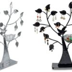Porta-joias e suporte de bijuterias com o formato de árvore