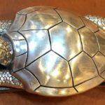 Fivela grande para cinto com a forma 3D de tartaruga marinha