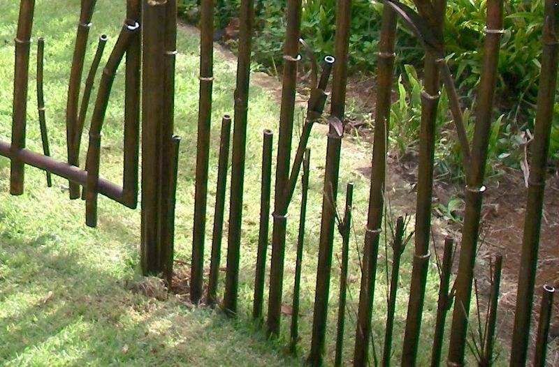 Decoração artística para jardins