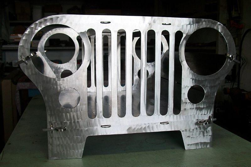 Imitação de grade de Jeep Willys