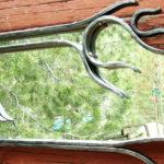 Moldura rústica de ferro forjado para espelho horizontal e vertical