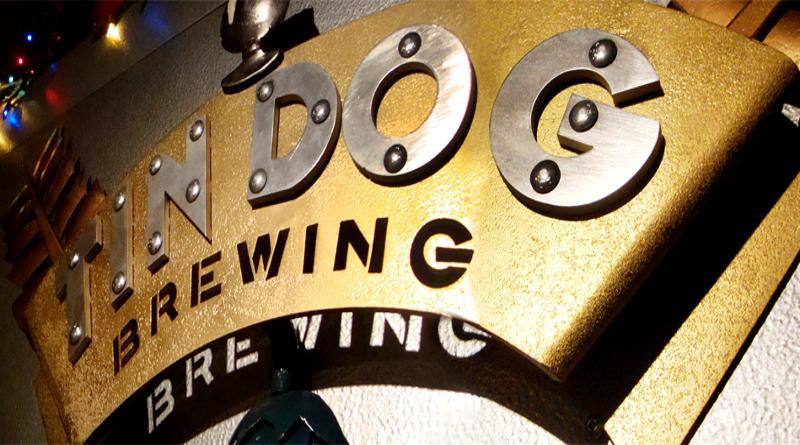 Placa com nome de cervejaria