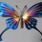 Borboleta holográfica de metal para decoração da casa ou jardim