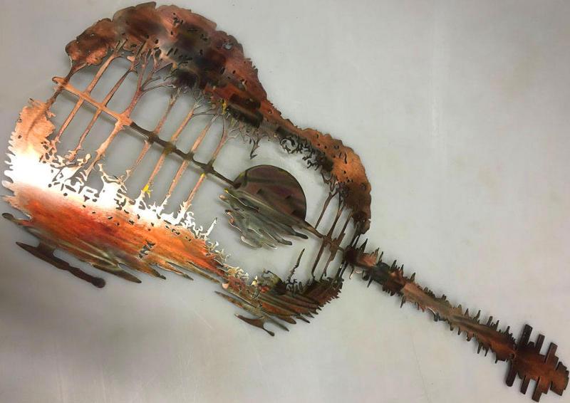 Pôr do sol no violão