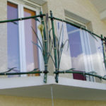 Guarda-corpo de metal imitando bambu para sacada ou balcão