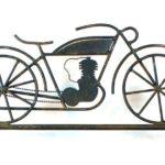 Letreiro vintage de ferro forjado para lojas e oficinas de motos