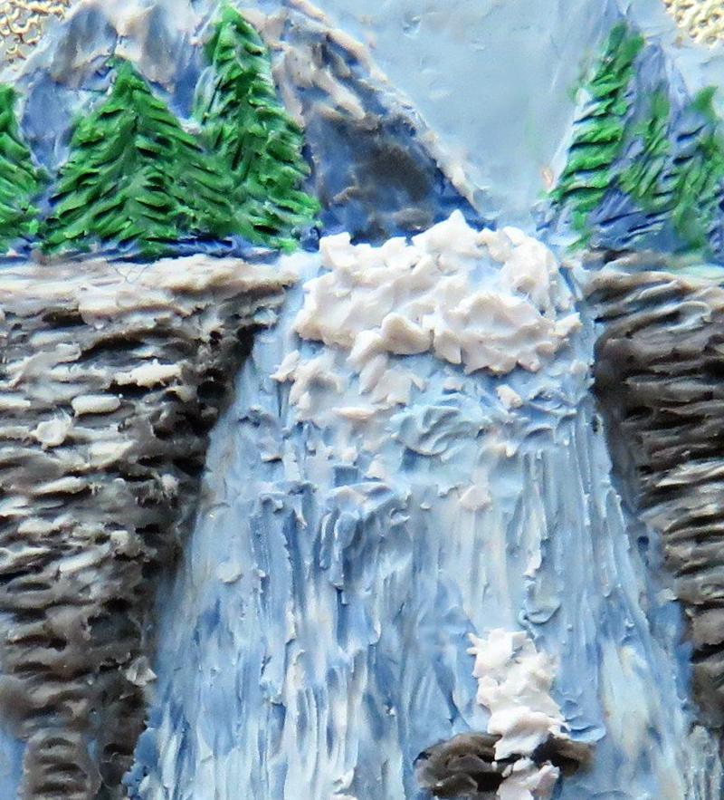 Escultura de cachoeira