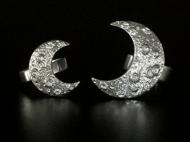 Par de anéis Meia-Lua