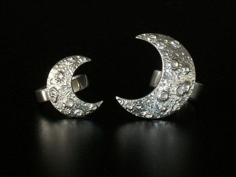 Anéis Meia-Lua fundidos em pewter