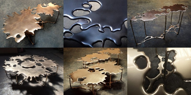 Mesas e consoles de aço