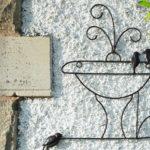 Painel de metal fonte d'água com pássaros para decorar jardim