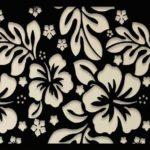 Hibiscos vazados em painel floral de metal para decorar paredes
