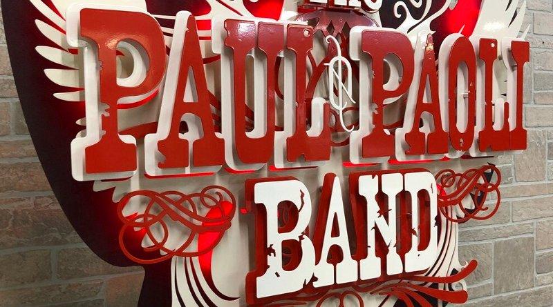 Painel de metal símbolo de banda country