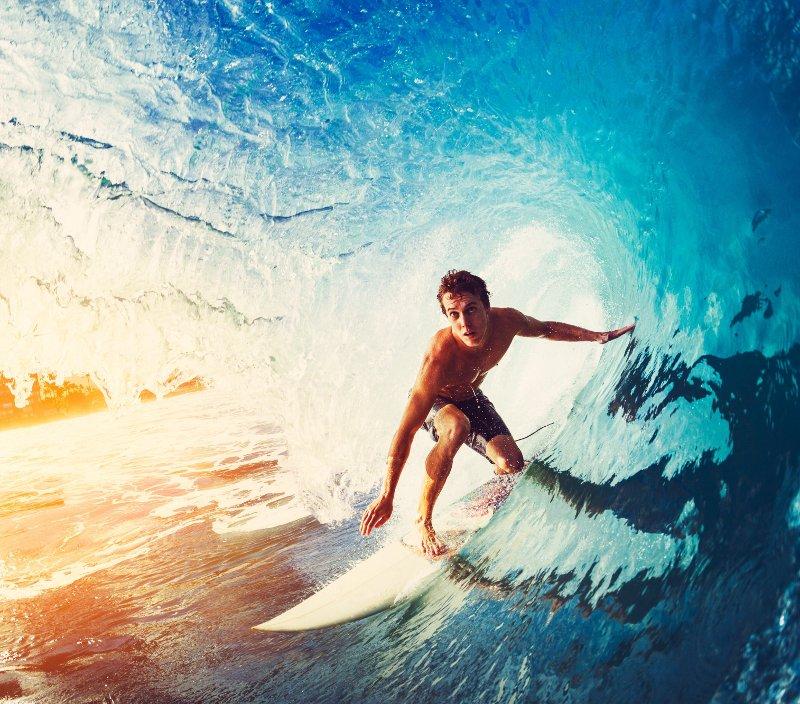 Anel temático sobre surfe