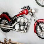 Chopper Harley-Davidson em painel 3D de metal para paredes