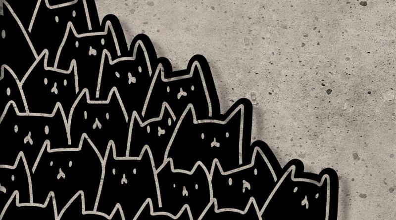 Decoração com gatinhos de ferro