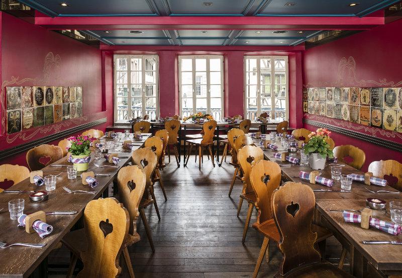 Decoração de restaurante francês