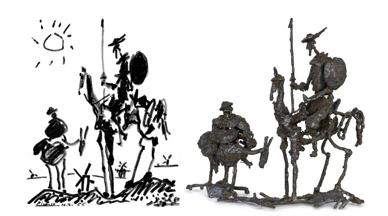 Inspiração para escultura de metal
