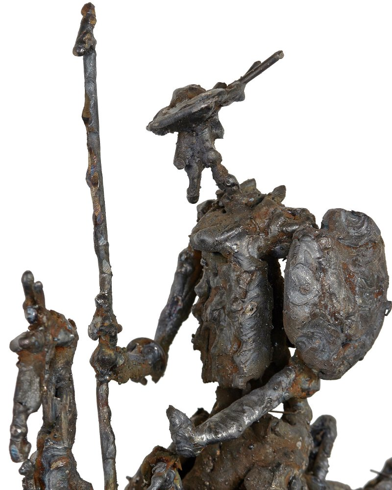 Dom Quixote e o cavalo Rocinante