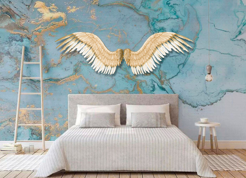 Cabeceira de cama de metal