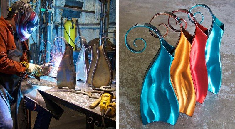 Fábrica de vasos de metal