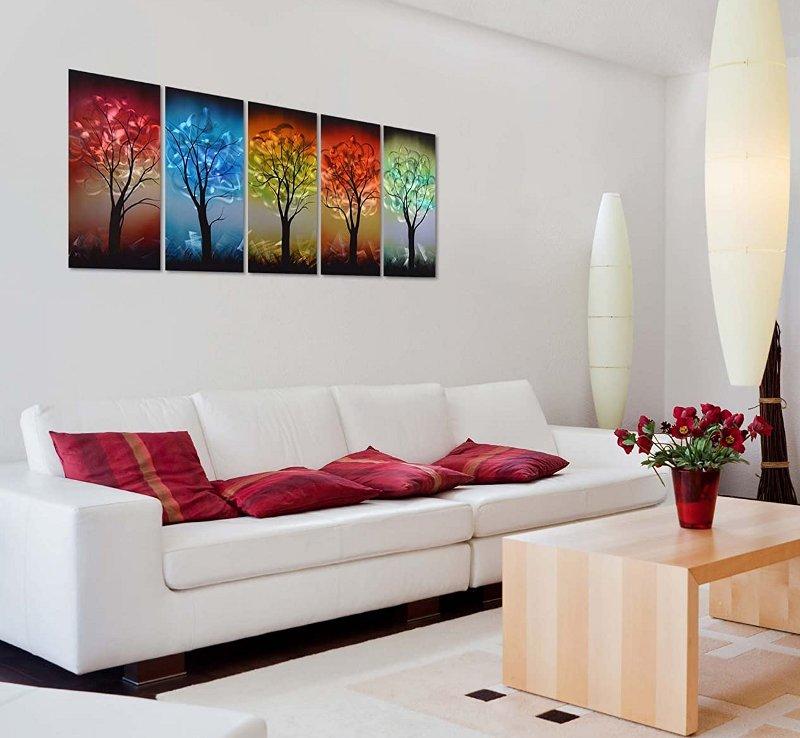 Painel com paisagem colorida holográfica