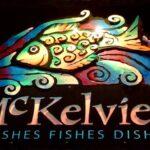 Letreiro dupla face 3D para bar e restaurante de frutos do mar
