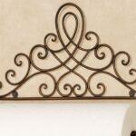 Porta-rolo de papel toalha retrô com ornamentos de ferro forjado