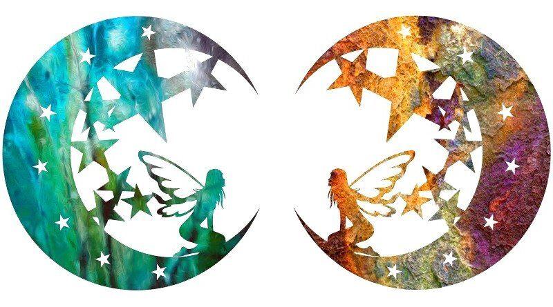 Painel de metal em cores vibrantes