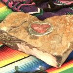 Coração de pedra e pewter para decorar terrário e vaso de planta