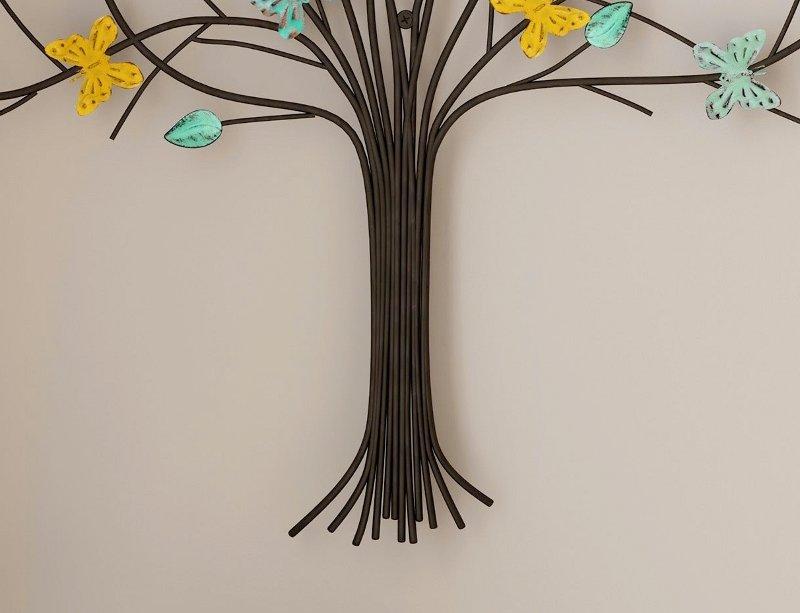 Borboletas de metal para decoração