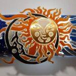 Luminária de tubo de PVC inspirada em painel Sol & Lua de metal