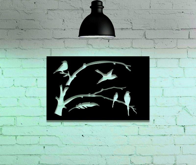 Quadro de parede com passarinhos