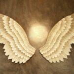 Fábrica de asas de anjo 3D de metal para decoração de paredes