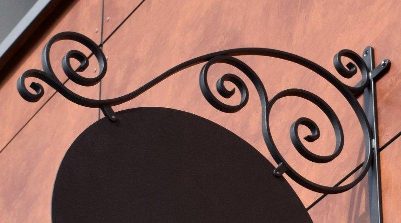 Letreiro vintage para fachada de loja moderna